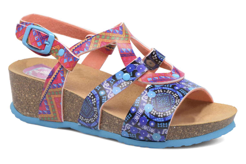 Sandales et nu-pieds Desigual Wedge Bio Multicolore vue détail/paire