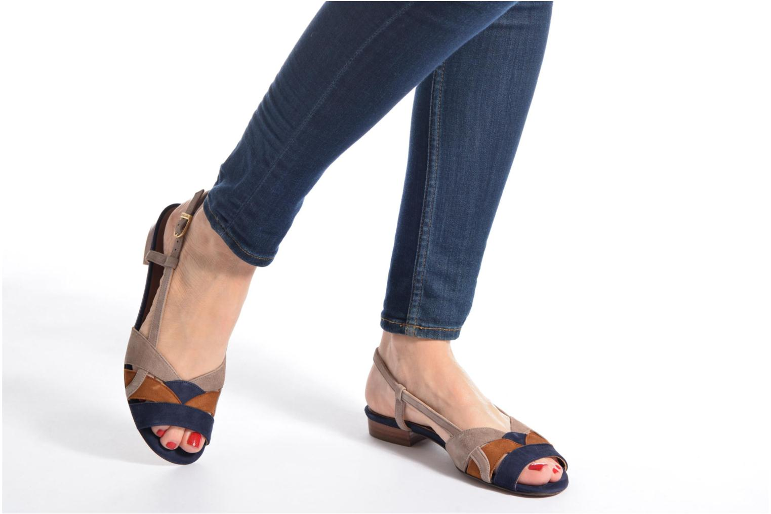 Sandals Heyraud EDNA Multicolor view from underneath / model view