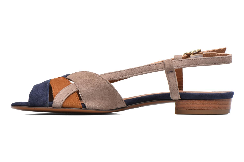 Sandales et nu-pieds Heyraud EDNA Multicolore vue face