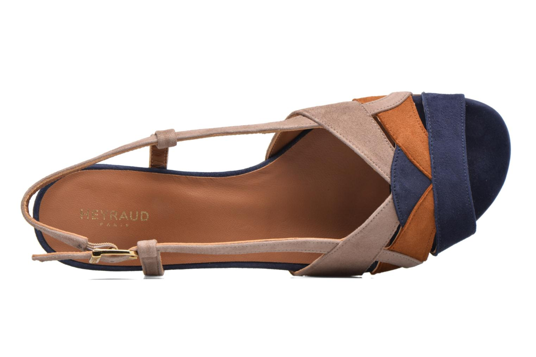 Sandales et nu-pieds Heyraud EDNA Multicolore vue gauche
