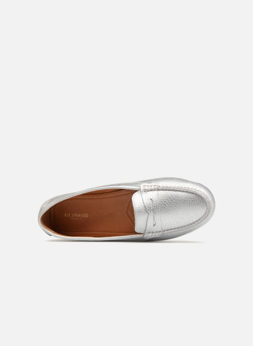 Loafers Heyraud EDWINA Silver view from the left