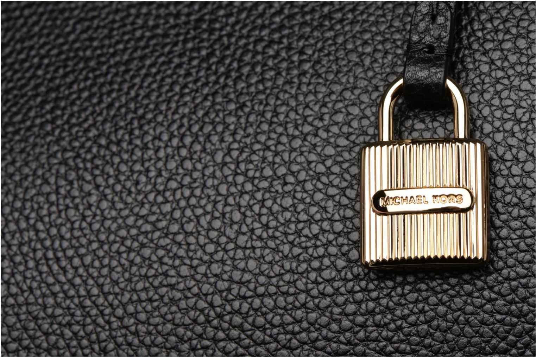 Bolsos de mano Michael Michael Kors MERCER LG CONV TOTE Negro vista lateral izquierda