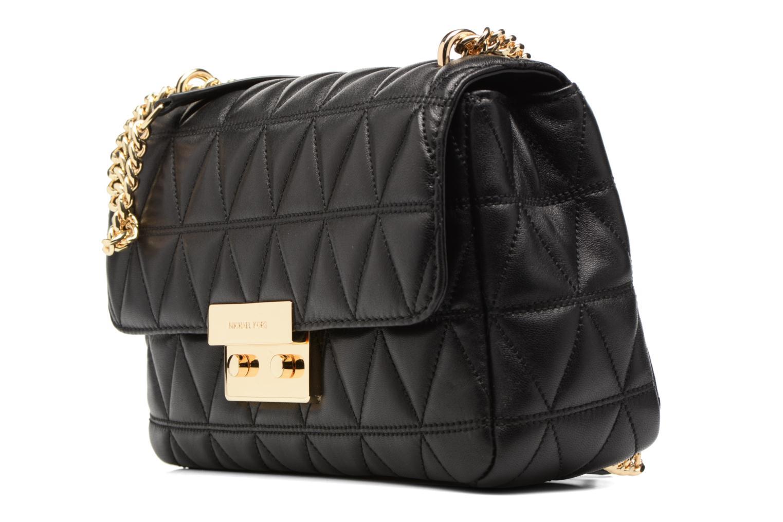Bolsos de mano Michael Michael Kors SLOAN LG CHAIN SHOULDER Negro vista del modelo
