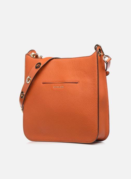 Handtaschen Michael Michael Kors SULLIVAN LG NS MESSENGER orange schuhe getragen