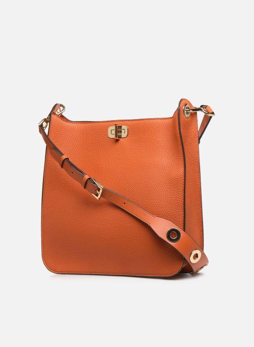 Handtaschen Michael Michael Kors SULLIVAN LG NS MESSENGER orange ansicht von rechts