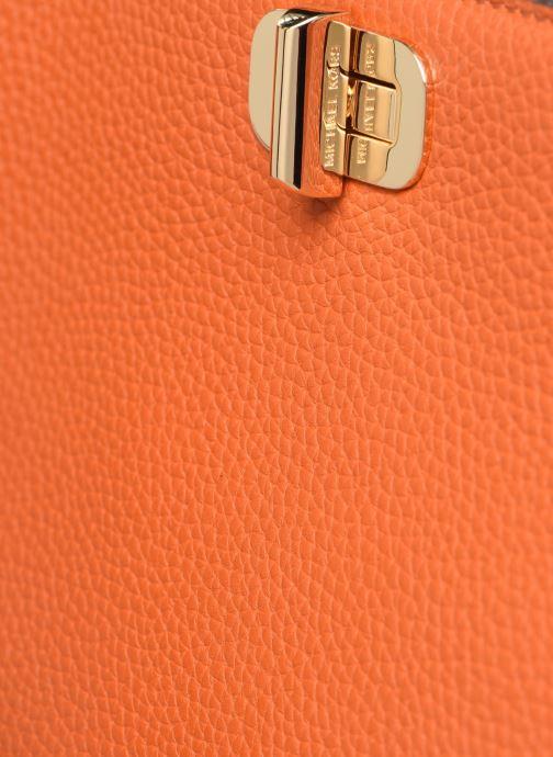 Handtaschen Michael Michael Kors SULLIVAN LG NS MESSENGER orange ansicht von links