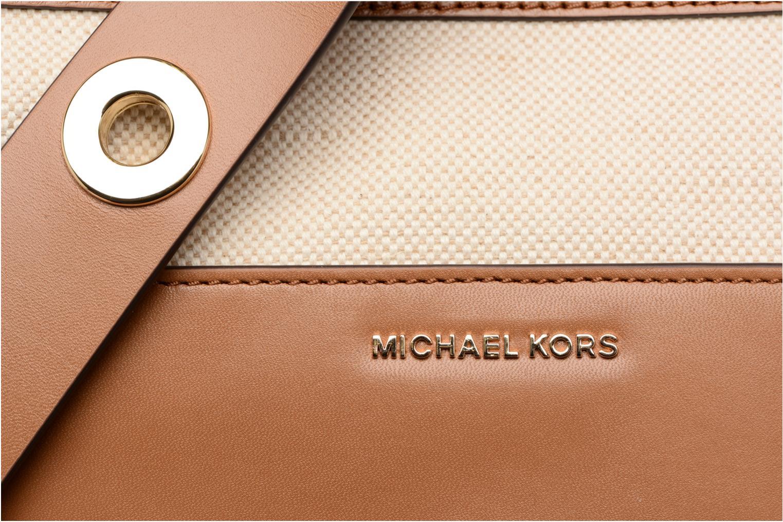 Bolsos de mano Michael Michael Kors SULLIVAN LG NS MESSENGER Beige vista lateral izquierda