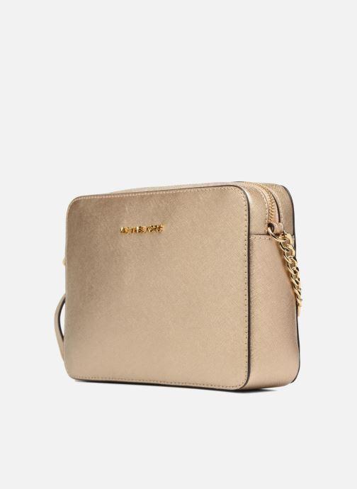 Handtaschen Michael Michael Kors LG EW Crossbody gold/bronze schuhe getragen
