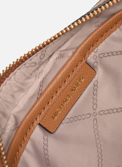 Handtassen Michael Michael Kors LG EW Crossbody Bruin achterkant