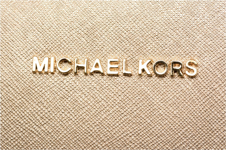 Bolsos de mano Michael Michael Kors LG EW Crossbody Oro y bronce vista lateral izquierda