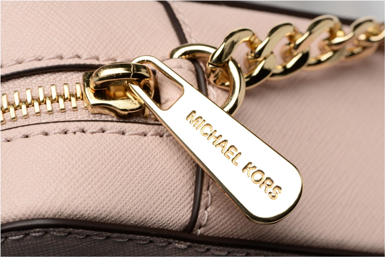Bolsos de mano Michael Michael Kors LG EW Crossbody Rosa vista lateral izquierda