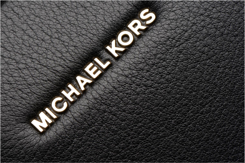 Bolsos de mano Michael Michael Kors GINNY MD MESSENGER Negro vista lateral izquierda