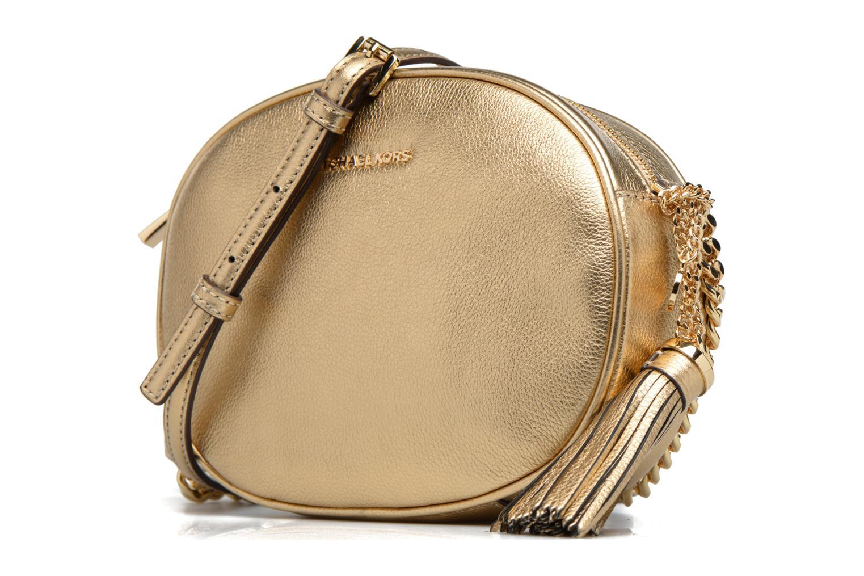 Bolsos de mano Michael Michael Kors GINNY MD MESSENGER Oro y bronce vista del modelo