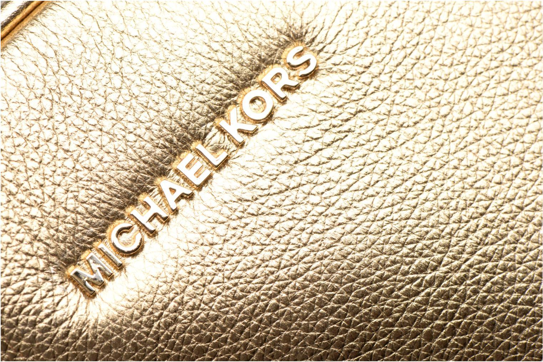 Bolsos de mano Michael Michael Kors GINNY MD MESSENGER Oro y bronce vista lateral izquierda