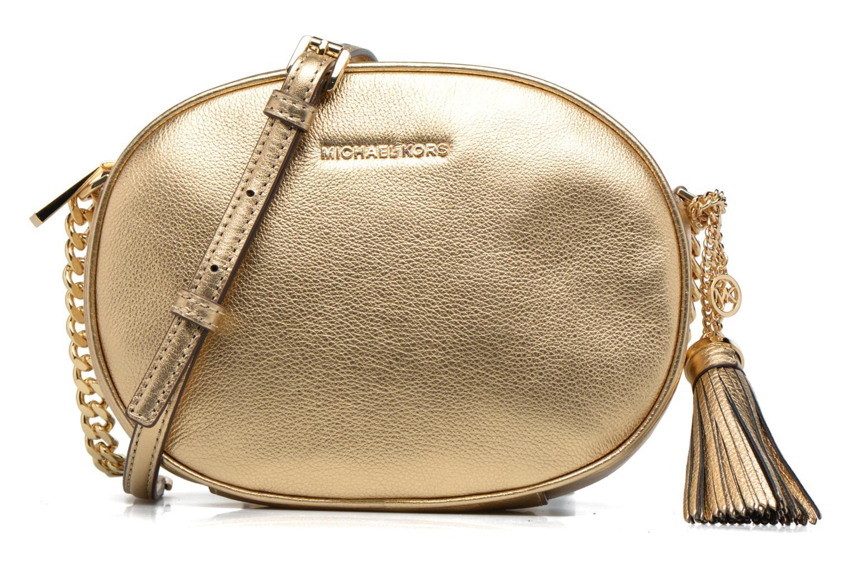 Bolsos de mano Michael Michael Kors GINNY MD MESSENGER Oro y bronce vista de detalle / par