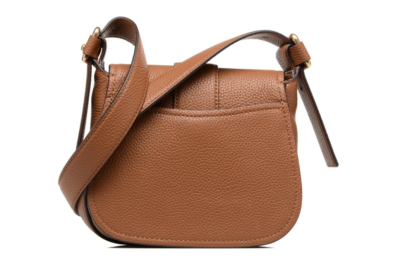 Handtaschen Michael Michael Kors MAXINE MD SADDLE BAG braun ansicht von vorne