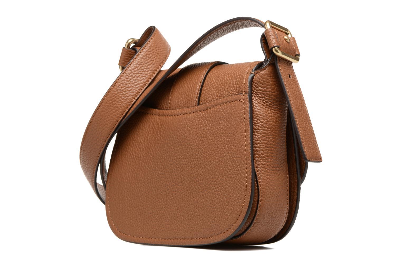 Handtaschen Michael Michael Kors MAXINE MD SADDLE BAG braun ansicht von rechts