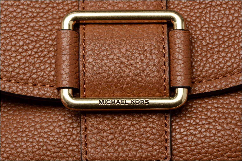 Handtaschen Michael Michael Kors MAXINE MD SADDLE BAG braun ansicht von links