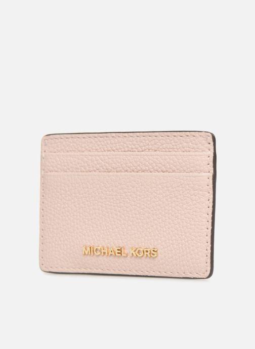 Petite Maroquinerie Michael Michael Kors Money Pieces CARDHOLDER Rose vue portées chaussures