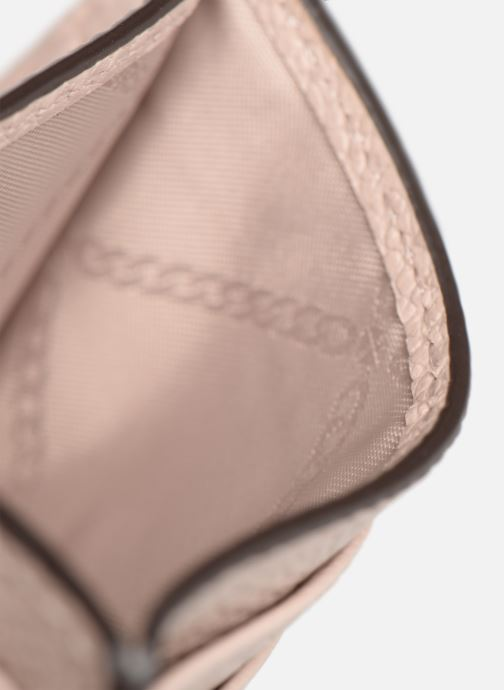 Kleine lederwaren Michael Michael Kors Money Pieces CARDHOLDER Roze achterkant