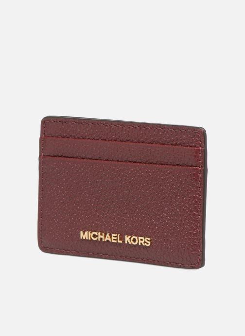 Plånböcker och fodral Michael Michael Kors Money Pieces CARDHOLDER Vinröd bild av skorna på