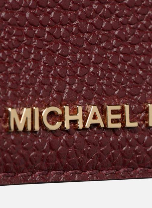 Plånböcker och fodral Michael Michael Kors Money Pieces CARDHOLDER Vinröd bild från vänster sidan