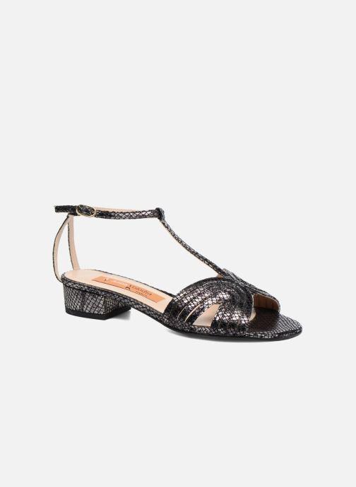 Sandaler Anna Volodia Olga Sort detaljeret billede af skoene