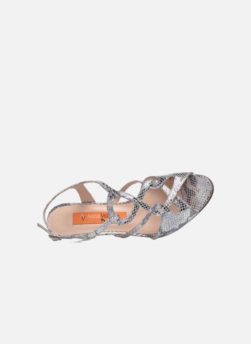 Sandales et nu-pieds Anna Volodia Cassandra Argent vue gauche