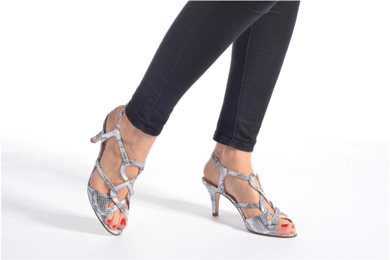 Sandales et nu-pieds Anna Volodia Cassandra Argent vue bas / vue portée sac
