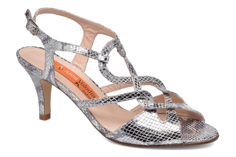 Sandales et nu-pieds Anna Volodia Cassandra Argent vue détail/paire