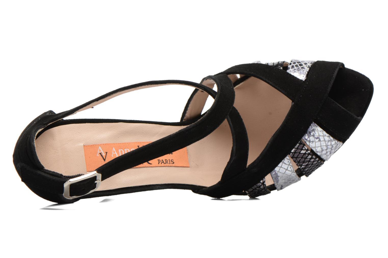 Sandales et nu-pieds Anna Volodia Sonia Noir vue gauche
