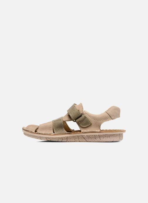 Sandales et nu-pieds El Naturalista Kiri E286 Gris vue face