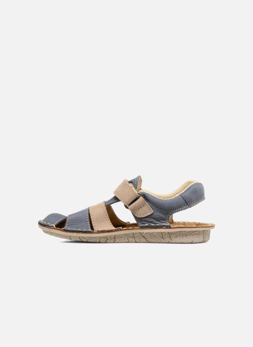 Sandales et nu-pieds El Naturalista Kiri E286 Bleu vue face