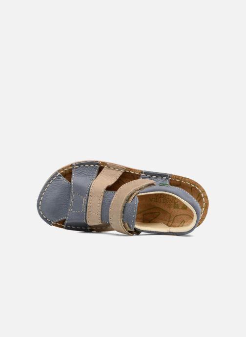 Sandales et nu-pieds El Naturalista Kiri E286 Bleu vue gauche