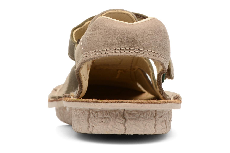 Sandales et nu-pieds El Naturalista Kiri E286 Gris vue droite
