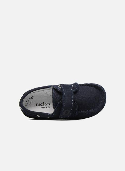 Chaussures à scratch Melania Danielo Bleu vue gauche
