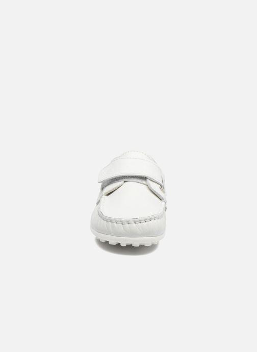 Chaussures à scratch Melania Danielo Blanc vue portées chaussures