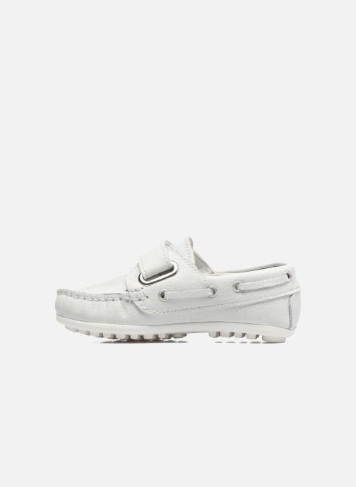 Chaussures à scratch Melania Danielo Blanc vue face