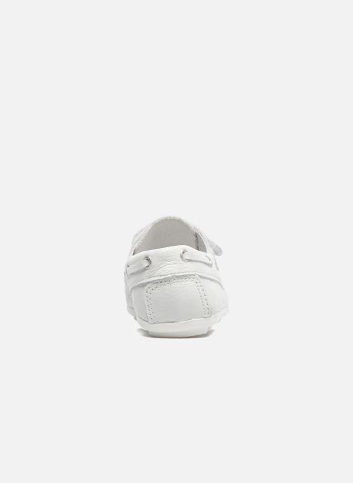 Chaussures à scratch Melania Danielo Blanc vue droite