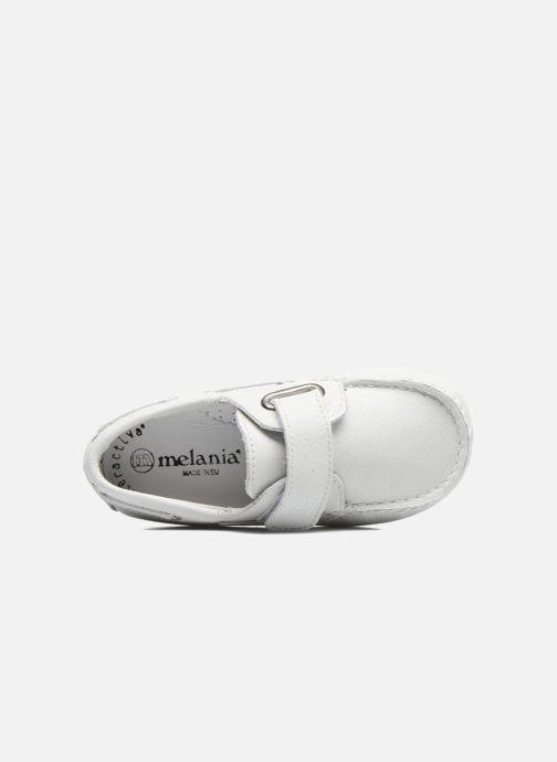 Chaussures à scratch Melania Danielo Blanc vue gauche