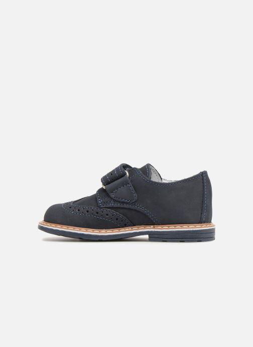 Zapatos con velcro Melania Diego Azul vista de frente