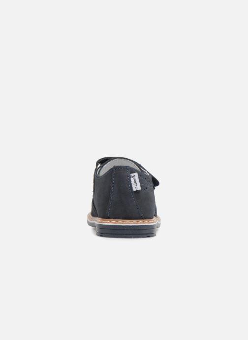 Zapatos con velcro Melania Diego Azul vista lateral derecha