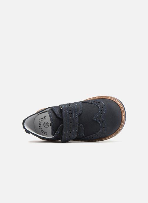 Zapatos con velcro Melania Diego Azul vista lateral izquierda