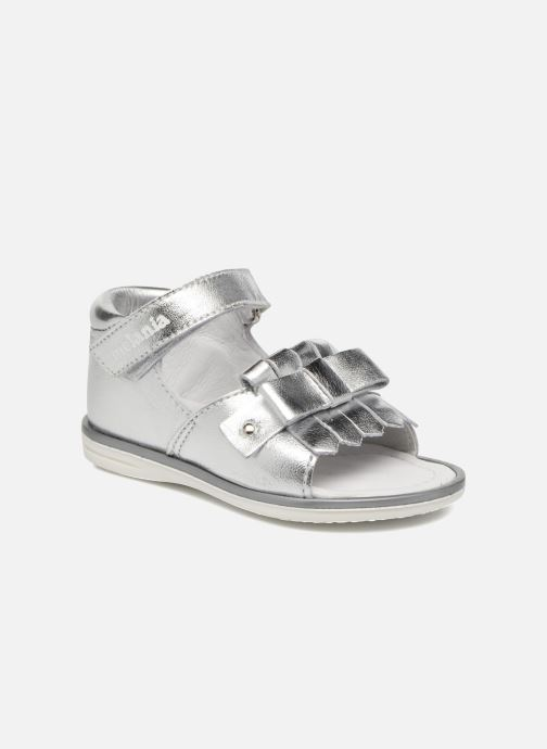 Sandals Melania Emma Silver detailed view/ Pair view