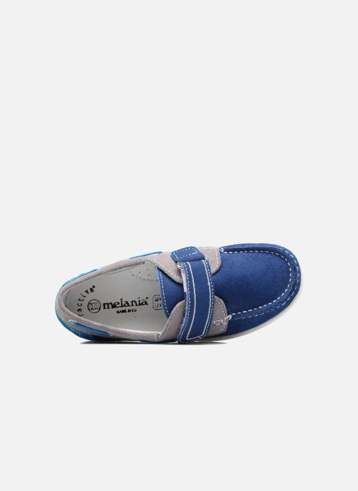Chaussures à scratch Melania Folco Bleu vue gauche