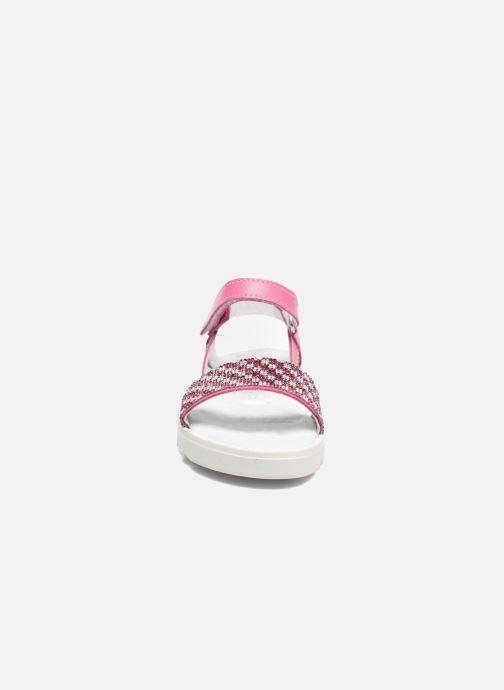Sandalen Melania Maia rosa schuhe getragen