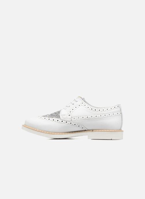 Chaussures à lacets Melania Palma Blanc vue face