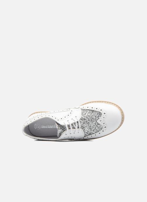 Chaussures à lacets Melania Palma Blanc vue gauche