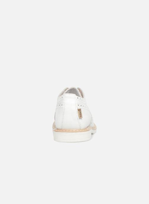 Scarpe con lacci Melania Palma Bianco immagine destra
