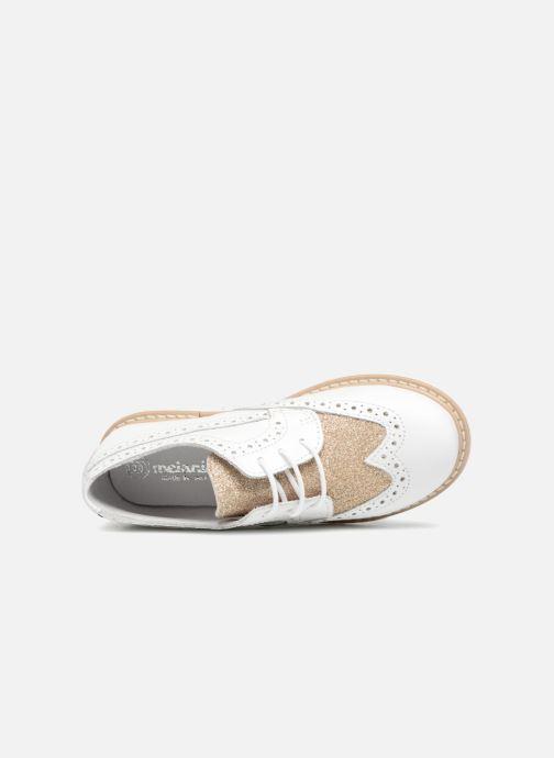 Scarpe con lacci Melania Palma Bianco immagine sinistra